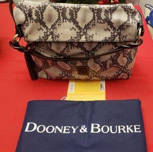 Dooney & Bourke Black Python Sloan Hobo